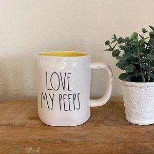 Rae Dunn LOVE MY PEEPS yellow mug